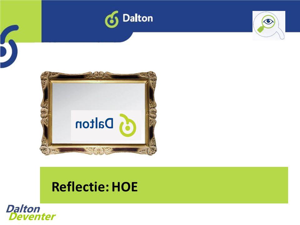 Reflectie: HOE