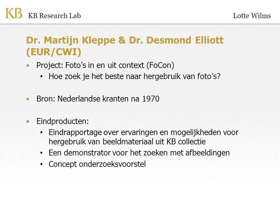 Dr. Martijn Kleppe & Dr.