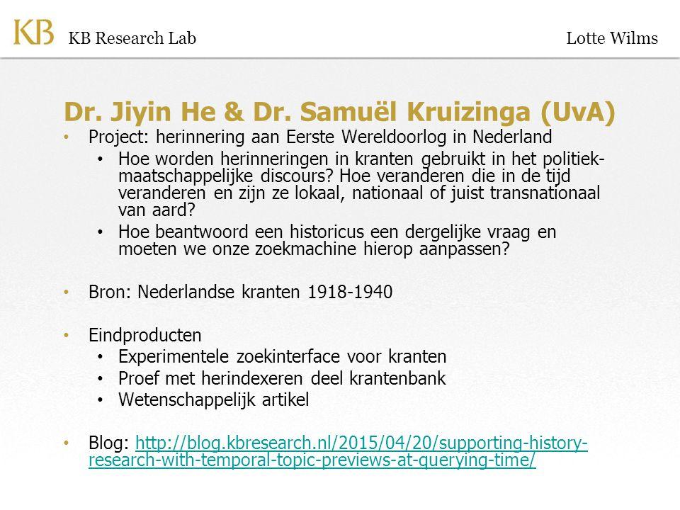 Dr. Jiyin He & Dr.