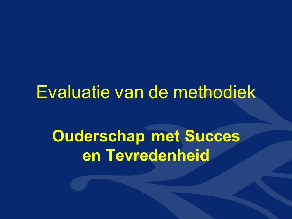 Evaluatie van de methodiek Ouderschap met Succes en Tevredenheid