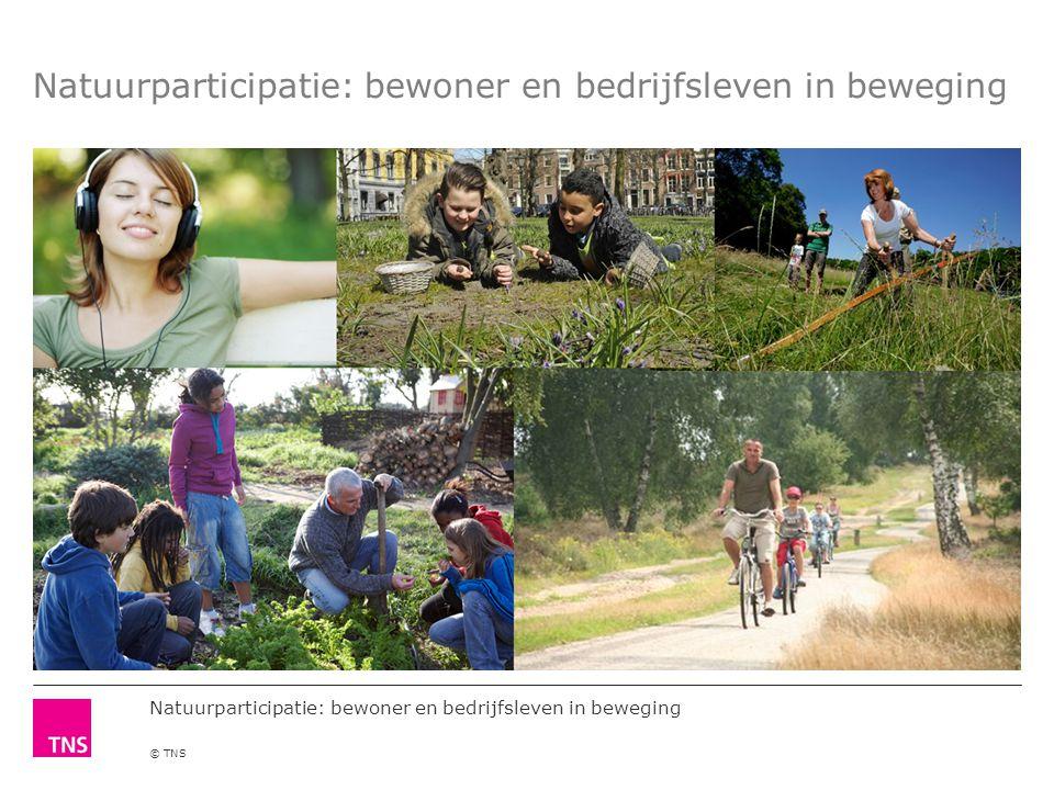 Natuurparticipatie: bewoner en bedrijfsleven in beweging © TNS Natuurparticipatie: bewoner en bedrijfsleven in beweging