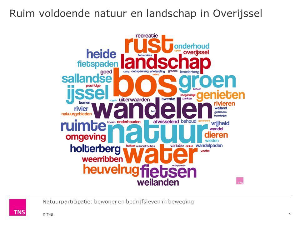 Natuurparticipatie: bewoner en bedrijfsleven in beweging © TNS Ruim voldoende natuur en landschap in Overijssel 5