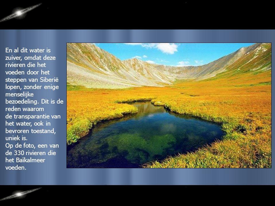 Het Baïkalmeer is het grootste meer in de wereld door zijn watervolume, en niet alleen door zijn grootte, maar ook door zijn diepte.