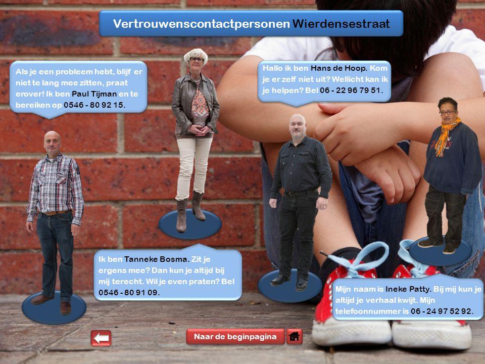 Vertrouwenscontactpersonen Wierdensestraat Hallo ik ben Hans de Hoop.