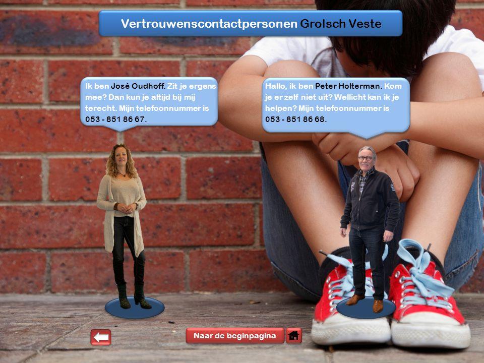 Vertrouwenscontactpersonen Grolsch Veste Naar de beginpagina Ik ben José Oudhoff.