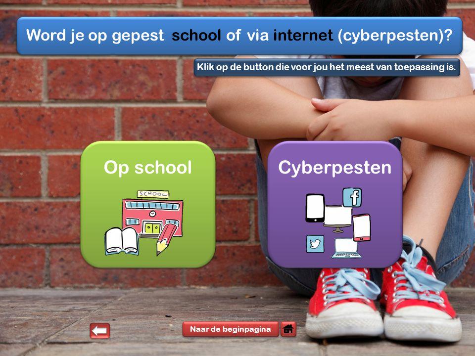 Word je op gepest school of via internet (cyberpesten).