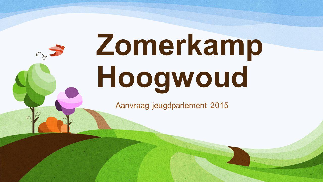 Zomerkamp Hoogwoud Aanvraag jeugdparlement 2015