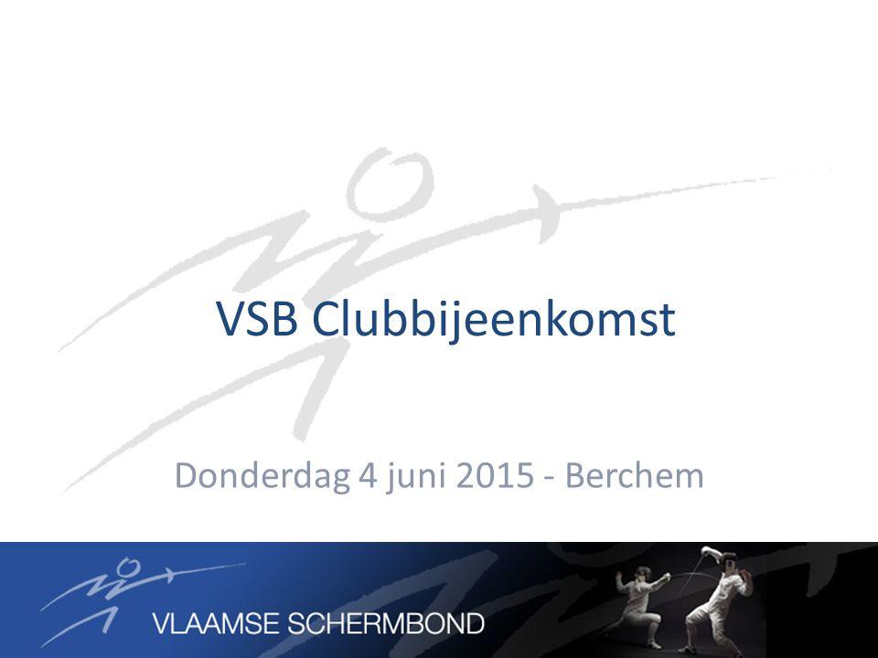 VSB Clubbijeenkomst Donderdag 4 juni 2015 - Berchem