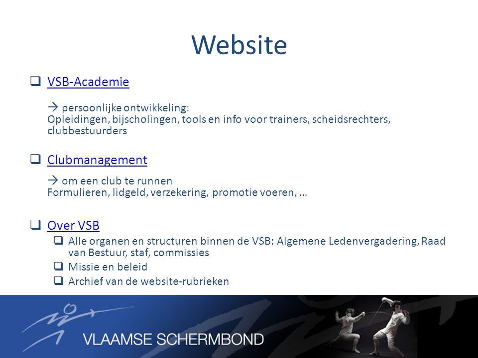 Website  VSB-Academie  persoonlijke ontwikkeling: Opleidingen, bijscholingen, tools en info voor trainers, scheidsrechters, clubbestuurders VSB-Acad