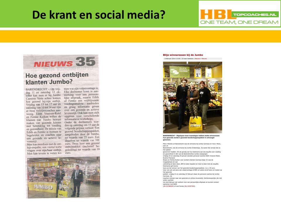 De krant en social media?