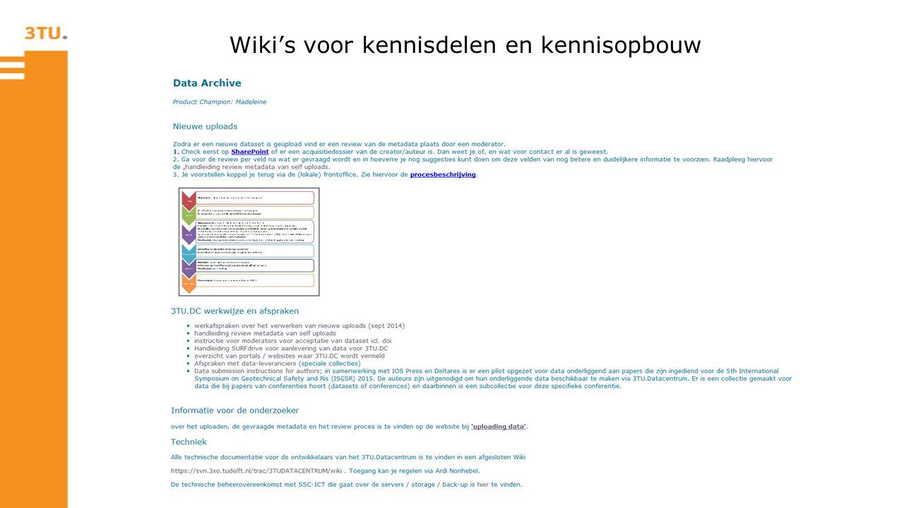 Wiki's voor kennisdelen en kennisopbouw