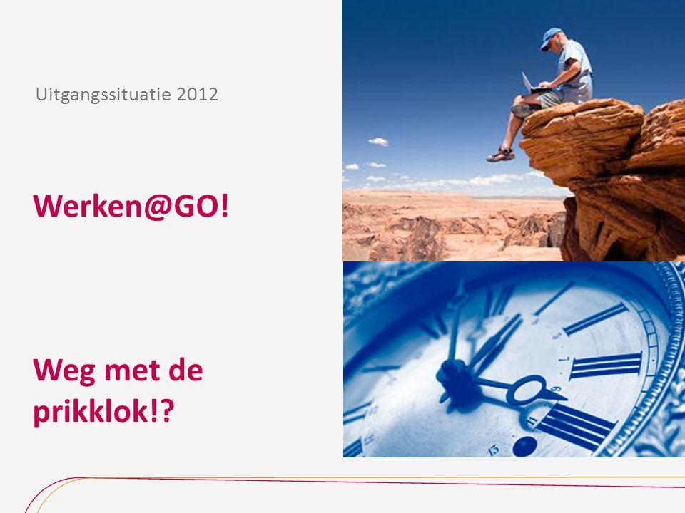 Werken@GO! Weg met de prikklok!? Uitgangssituatie 2012