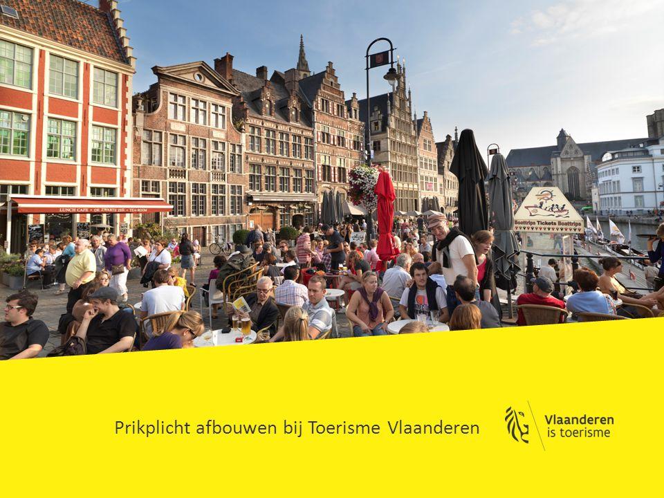 Prikplicht afbouwen bij Toerisme Vlaanderen