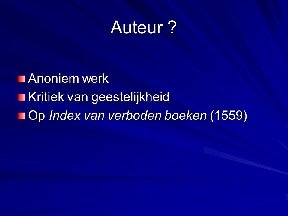 Auteur ? Anoniem werk Kritiek van geestelijkheid Op Index van verboden boeken (1559)