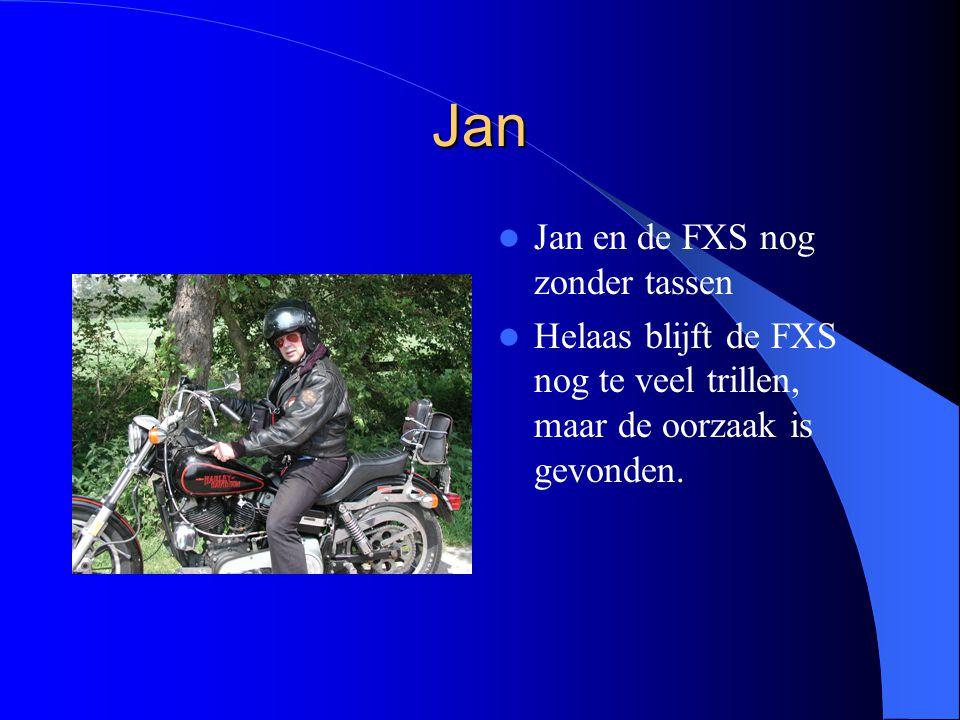 Jan Jan en de FXS nog zonder tassen Helaas blijft de FXS nog te veel trillen, maar de oorzaak is gevonden.