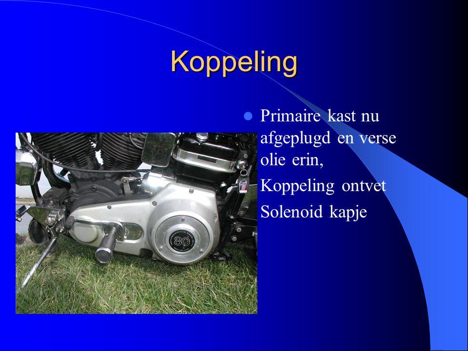 Koppeling Primaire kast nu afgeplugd en verse olie erin, Koppeling ontvet Solenoid kapje