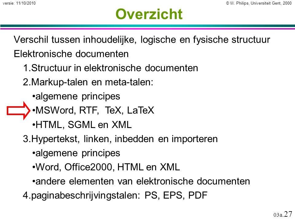 Elektronische documenten MSWord bestandsformaten