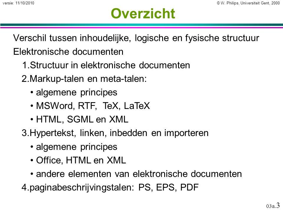 Elektronische documenten Inhoudelijke, logische en fysische structuur van documenten