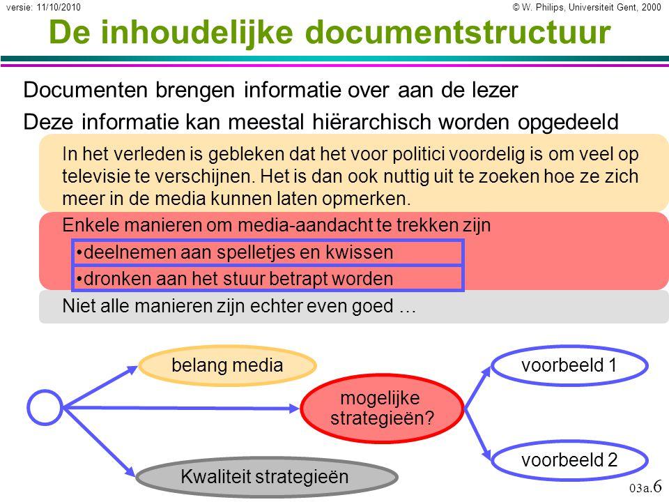 © W.Philips, Universiteit Gent, 2000versie: 11/10/2010 03a.