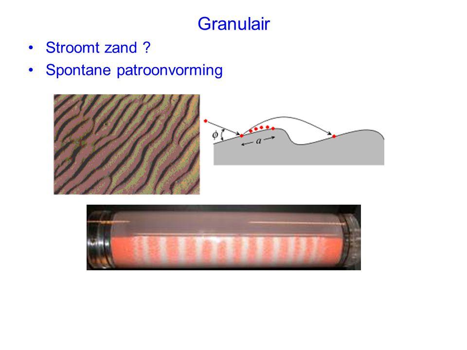 Granulair Stroomt zand Spontane patroonvorming