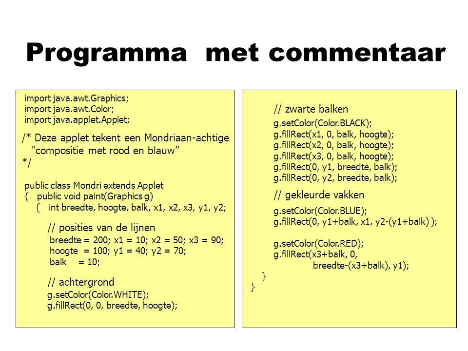 Programma nasd import java.awt.Graphics; import java.awt.Color; import java.applet.Applet; public class Mondri extends Applet { public void paint(Grap