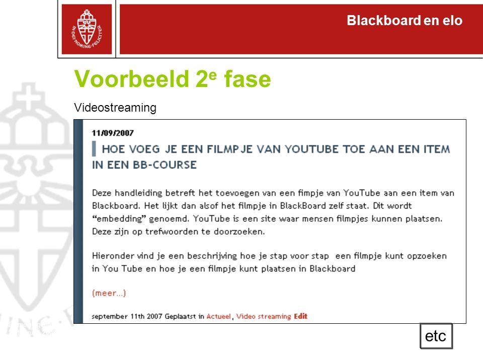 Blackboard en elo Domeineigenaren 27 februari 2008 Waar staat Lett: aantal studenten