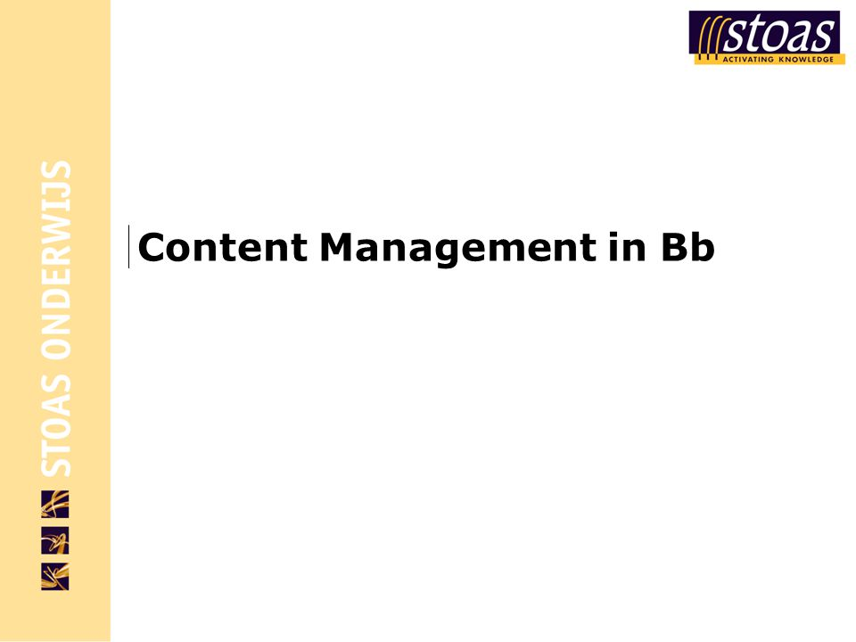 Content Management in Bb
