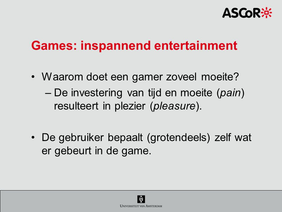 Games: inspannend entertainment Waarom doet een gamer zoveel moeite.