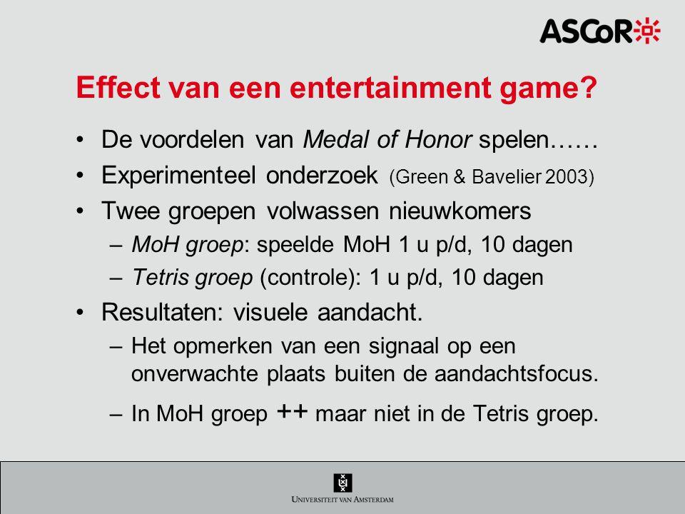 Effect van een entertainment game.