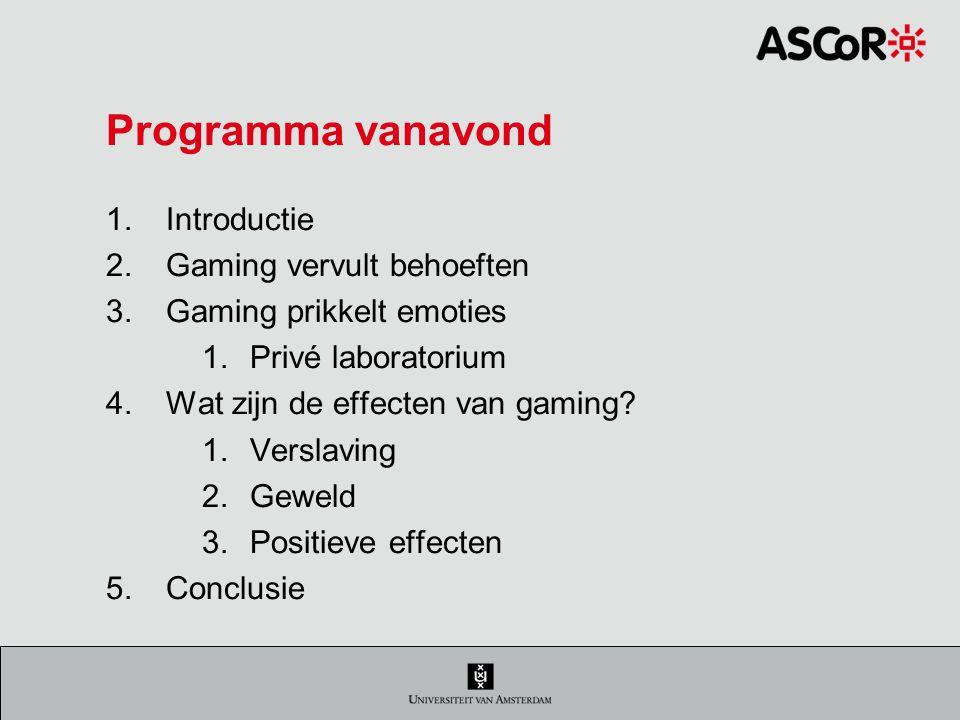 2.Gaming vervult behoeften Media kunnen behoeften vervullen.