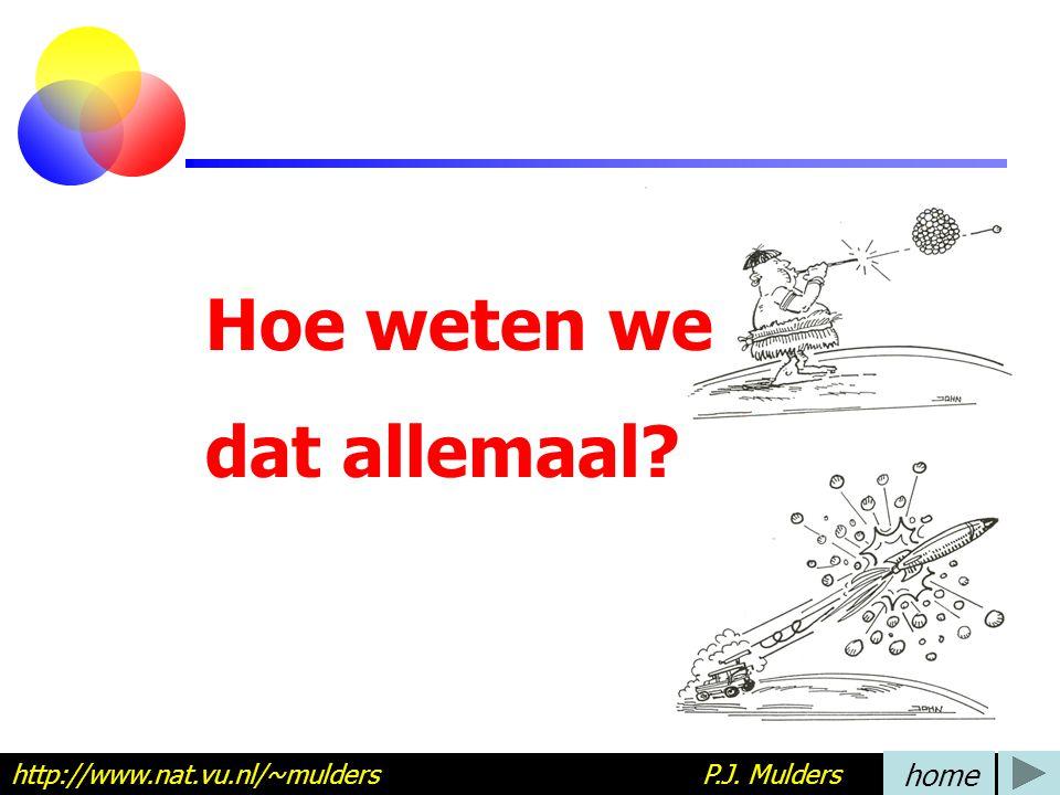 Hoe weten we dat allemaal? http://www.nat.vu.nl/~mulders P.J. Mulders home
