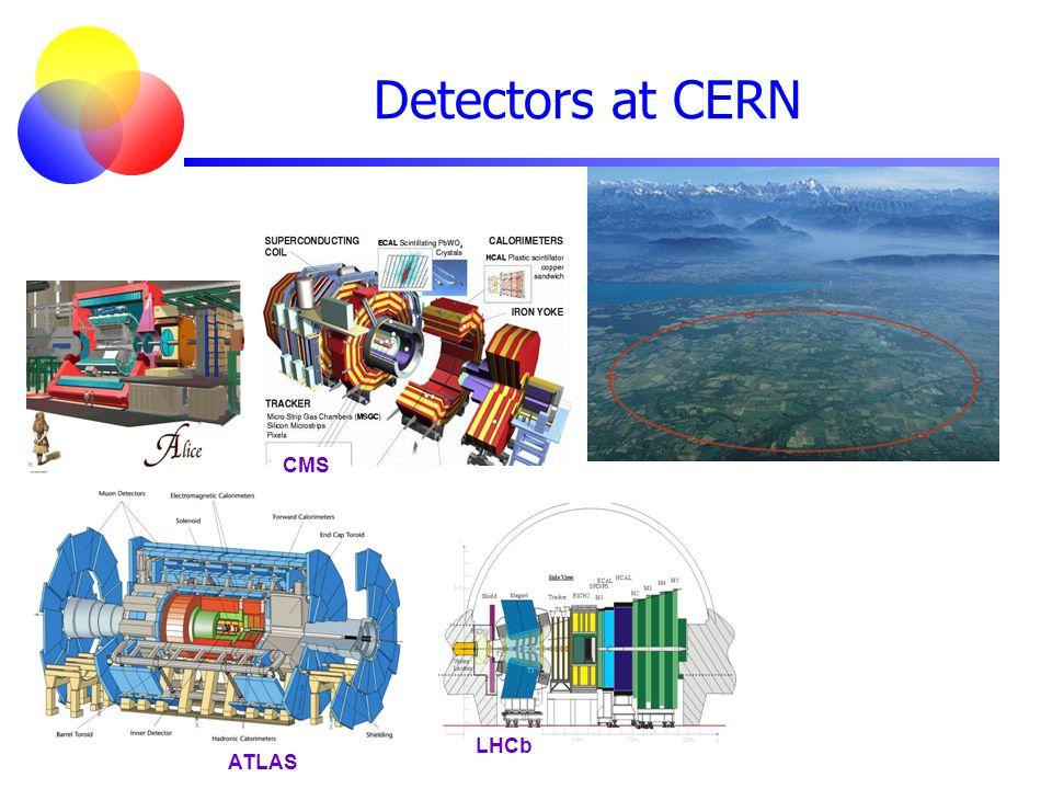 ATLAS CMS LHCb Detectors at CERN