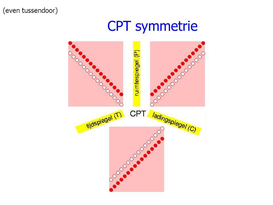 CPT symmetrie (even tussendoor)