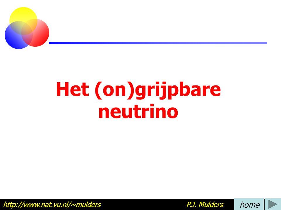 Het (on)grijpbare neutrino http://www.nat.vu.nl/~mulders P.J. Mulders home