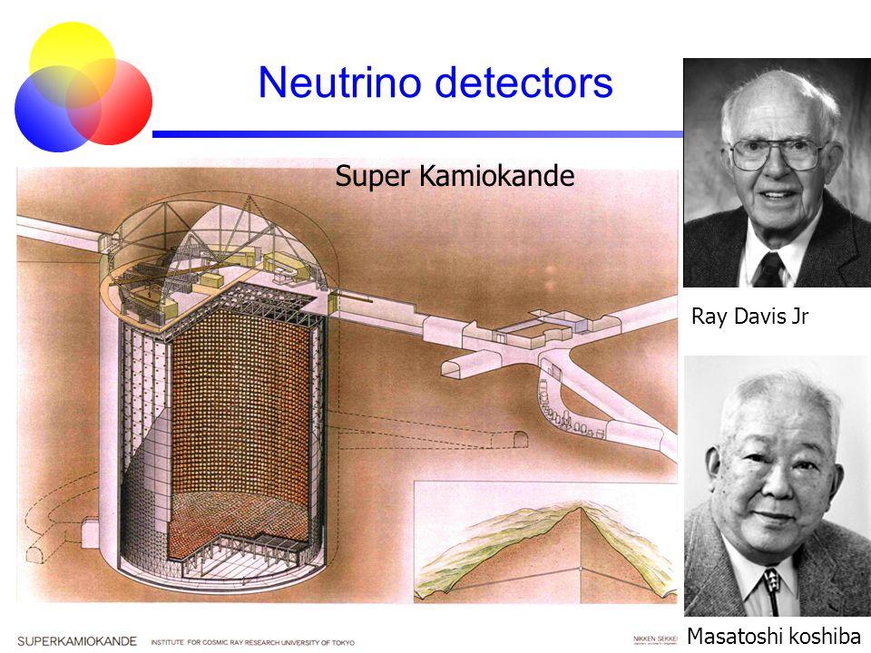 Neutrino detectors Super Kamiokande Masatoshi koshiba Ray Davis Jr