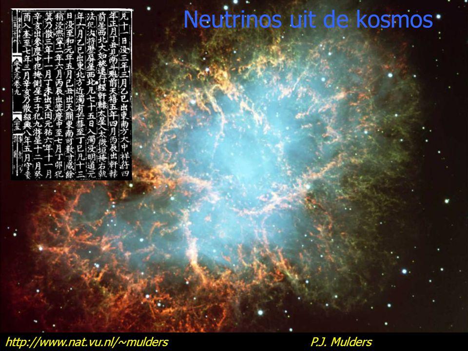 home http://www.nat.vu.nl/~mulders P.J. Mulders Neutrinos uit de kosmos