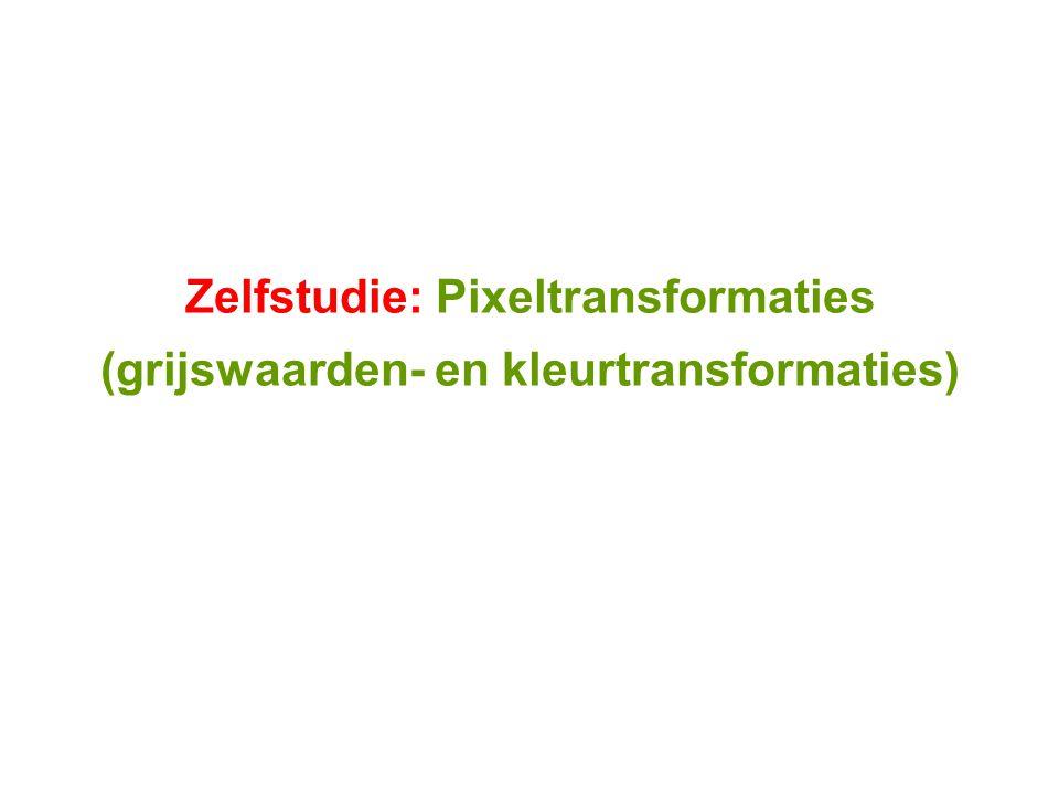 Zelfstudie: Pixeltransformaties (grijswaarden- en kleurtransformaties)