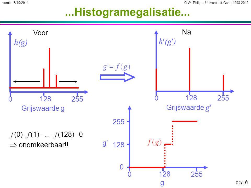 © W.Philips, Universiteit Gent, 1998-2012versie: 6/10/2011 02d.