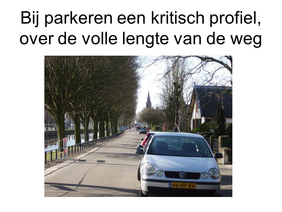 Bij parkeren een kritisch profiel, over de volle lengte van de weg