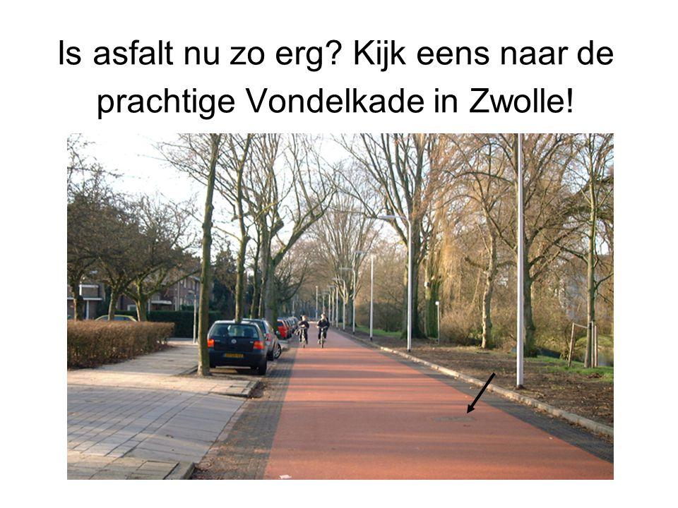 Is asfalt nu zo erg? Kijk eens naar de prachtige Vondelkade in Zwolle!