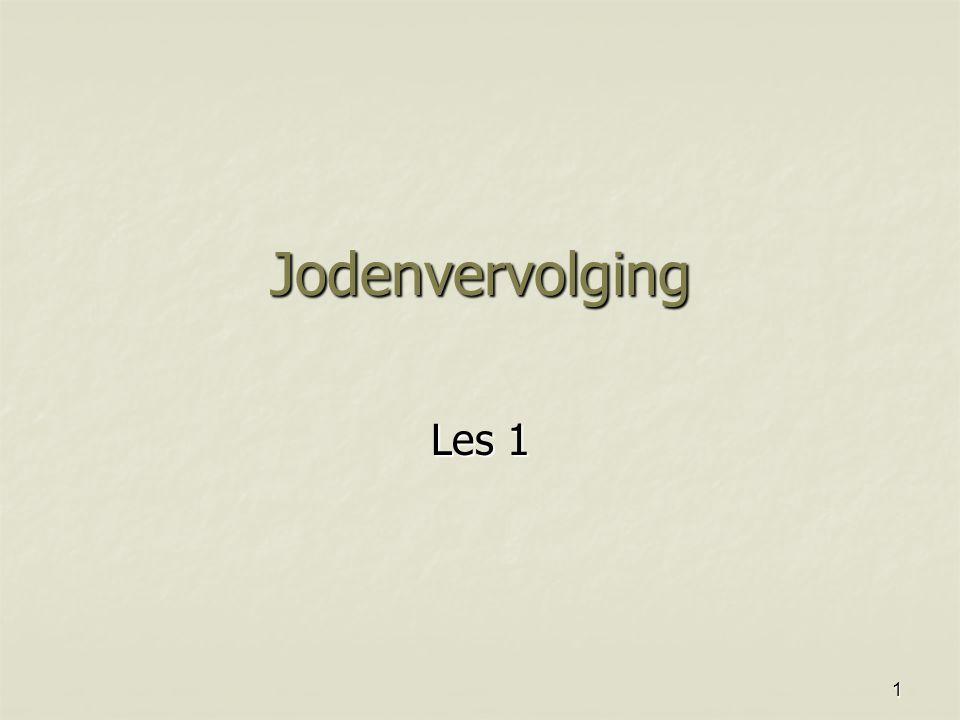 1 Jodenvervolging Les 1