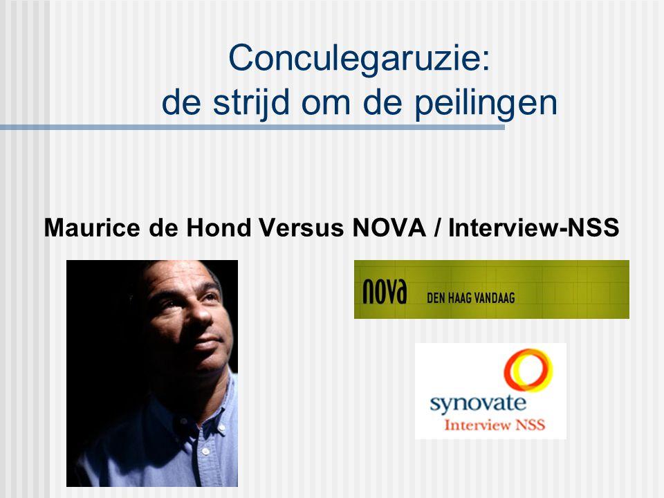 Conculegaruzie: de strijd om de peilingen Maurice de Hond Versus NOVA / Interview-NSS