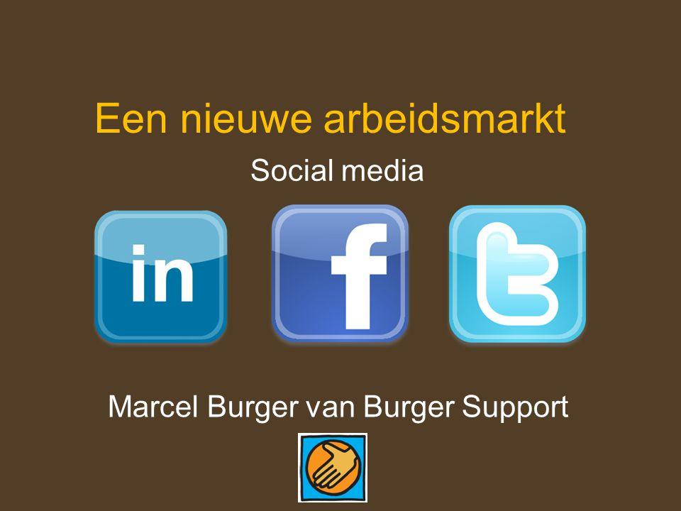 Een nieuwe arbeidsmarkt Social media Marcel Burger van Burger Support