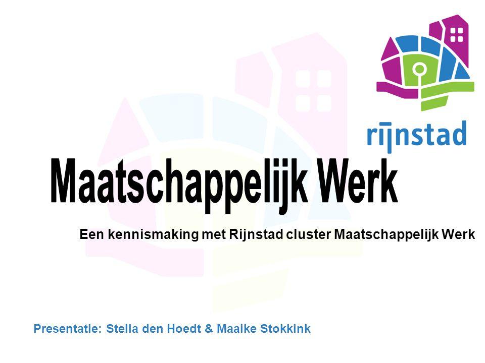 INHOUD Inleiding Rijnstad in beeld Maatschappelijk Werk & Sociaal Raadslieden Locaties MW & SR Aanmeldingsroute Samenwerking Wie zijn we… Wat doen we….