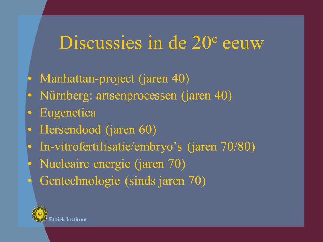 Nieuwe discussies Informatietechnologie 'Genomics' 'Nanotechnology' Wetenschap en milieu