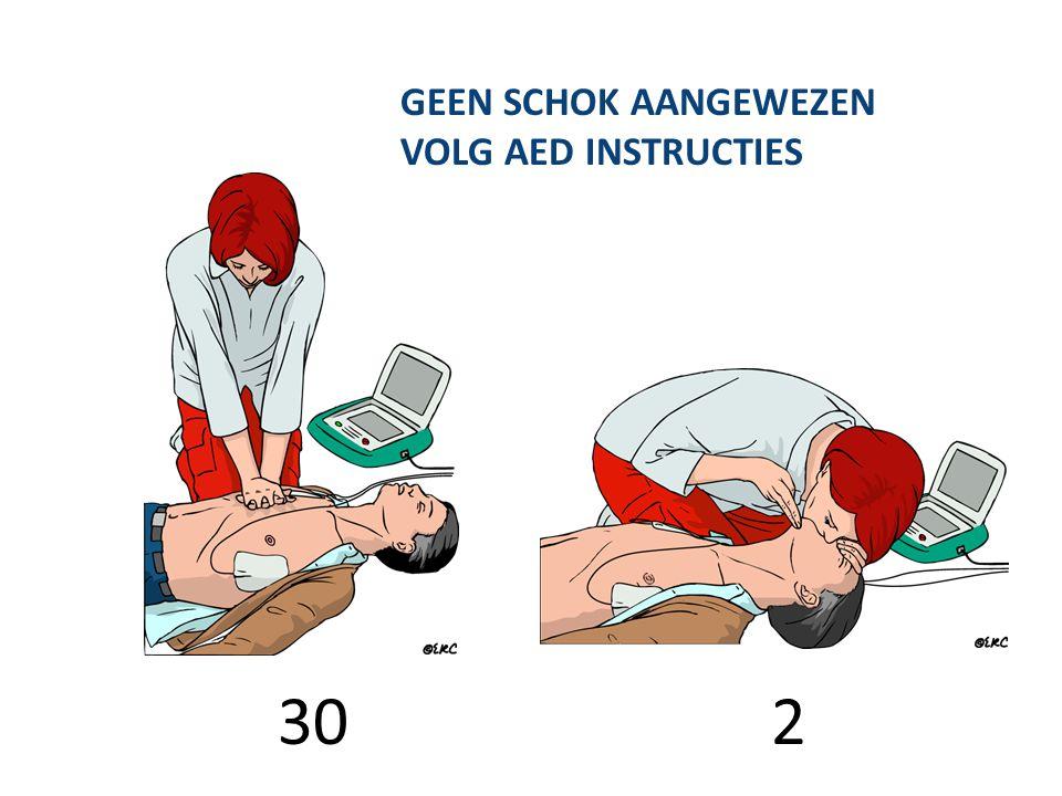 GEEN SCHOK AANGEWEZEN VOLG AED INSTRUCTIES 30 2