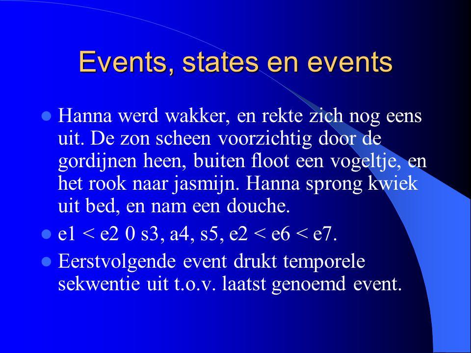Events, states en events Hanna werd wakker, en rekte zich nog eens uit.
