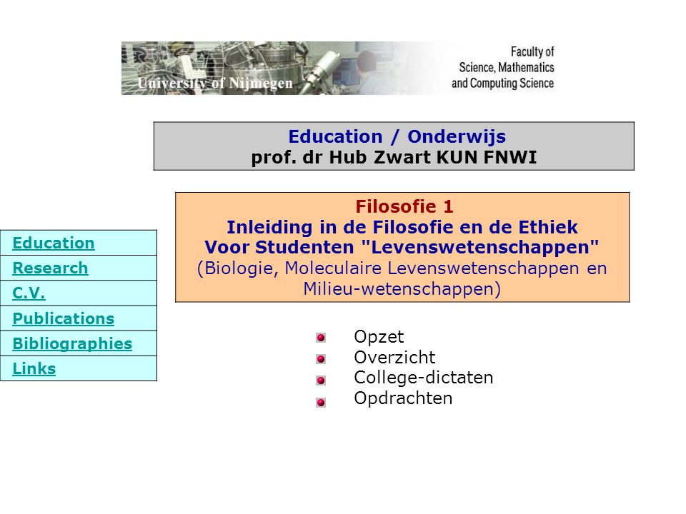 Opzet Overzicht College-dictaten Opdrachten Education Research C.V.