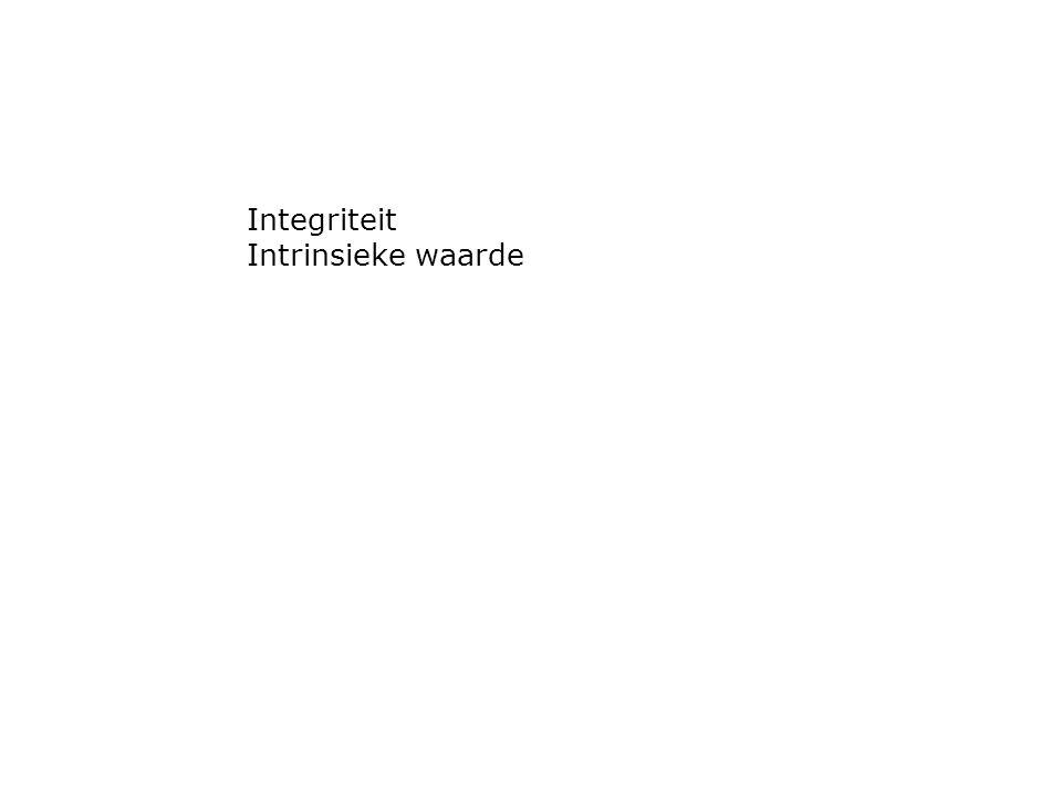 Integriteit Intrinsieke waarde