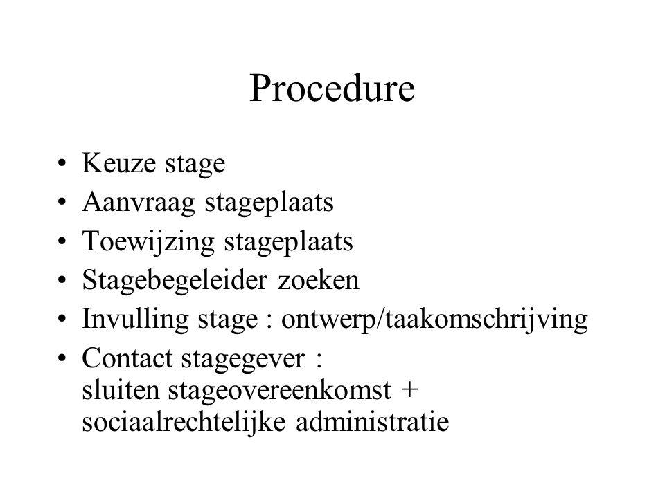 Procedure Pro-actieve rol student-stagiair !